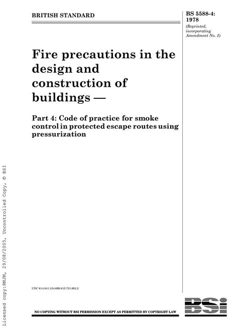 Bs 5588 4 1978 fire precautions in the design and