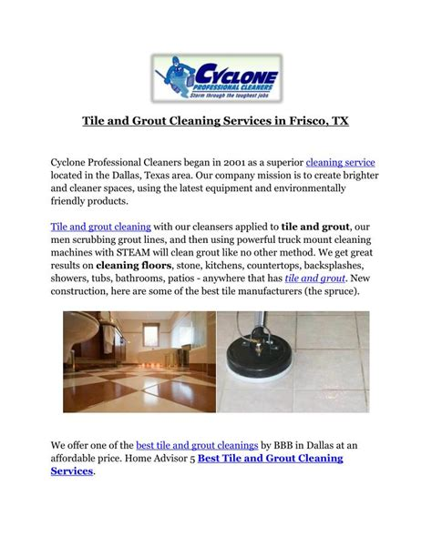 ppt tile and grout cleaning services in frisco tx powerpoint presentation id 7510422