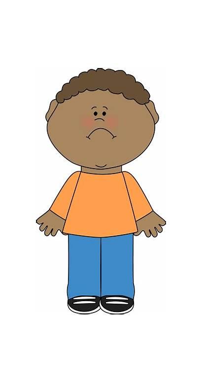 Clipart Boy Unhappy Sad Clip Child Clipground