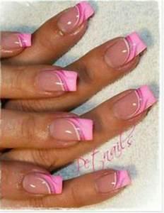 Nail art pink french tips pretty n nails