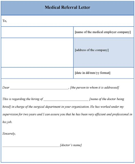 Microsoft Letter Template Free by Referral Letter Template Microsoft Word Fee