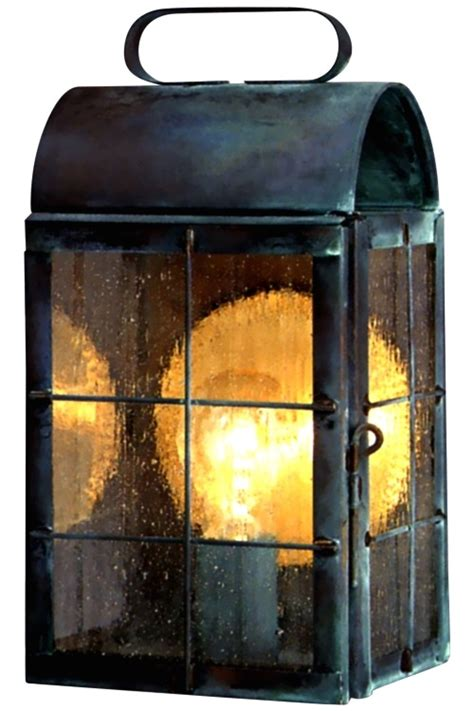new colonial wall sconce outdoor light copper lantern