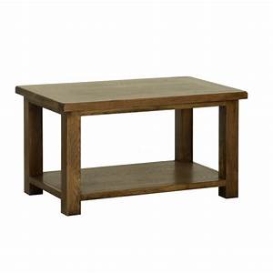 rustic oak large coffee table With big rustic coffee table
