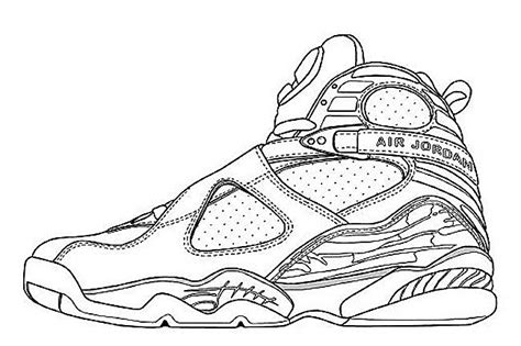 Coloring Jordans by 4 Coloring Pages Coloring Pages