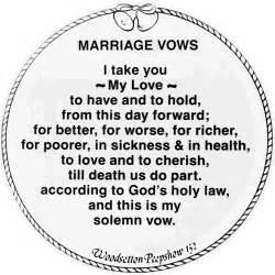 biblical wedding vows grand illusions ltd