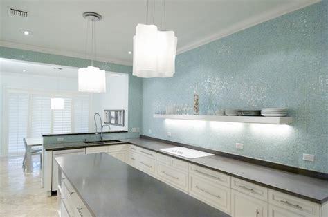 contemporary kitchen backsplashes turquoise glass tile backsplash contemporary kitchen