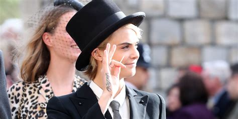 Cara Delevingne Wears Top Hat To Princess Eugenie's Royal