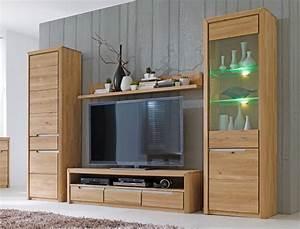 Wohnwand Eiche Massiv Bianco : wohnwand pisa 30 eiche bianco massiv 4 teilig medienwand ~ Bigdaddyawards.com Haus und Dekorationen
