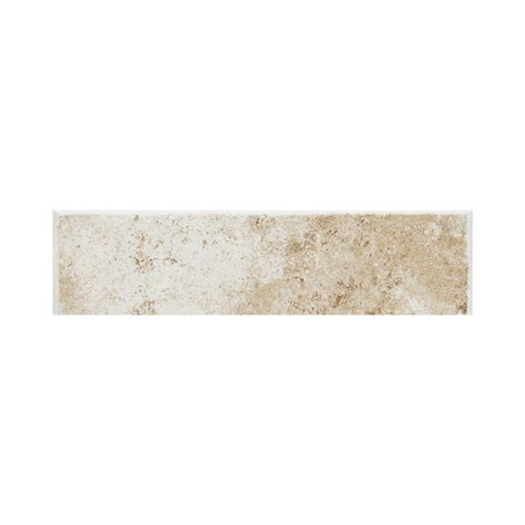 bullnose floor tile daltile fidenza bianco 3 in x 12 in ceramic bullnose floor and wall tile fd01p43c91p1 the