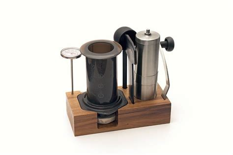 It's a diy wine caddy that will hold a bottle of wine and two glasses, or 3 bottles of wine! Image result for diy aeropress caddy   Kaffeehaus, Coffee shop, Kaffeerösterei