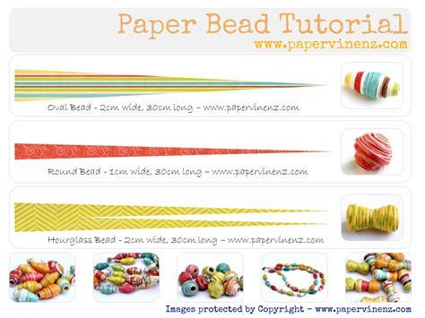 paper bead template paper bead tutorial summer papervine