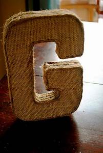 diy burlap covered letter things we39ve done our blog With burlap letters hobby lobby
