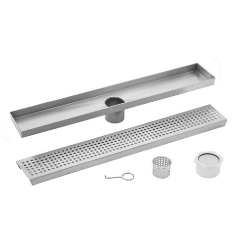 Shower Drain Home Depot by Luxe 30 In Stainless Steel Linear Shower Drain Squares