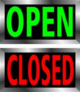 Open And Closed Signs Clipart