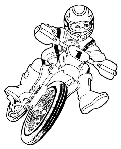 high quality boy riding motorbike  color  print