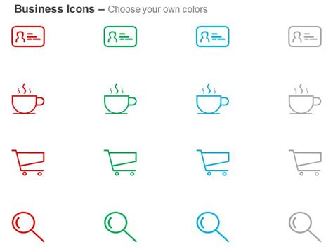 id card coffee cart search  icons graphics powerpoint