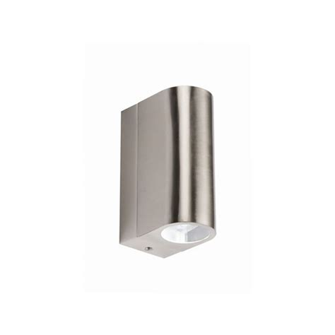 curved stainless steel led up and outdoor wall light