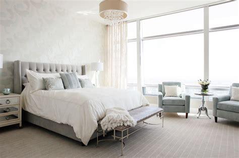 modern glam luxury condo transitional bedroom los