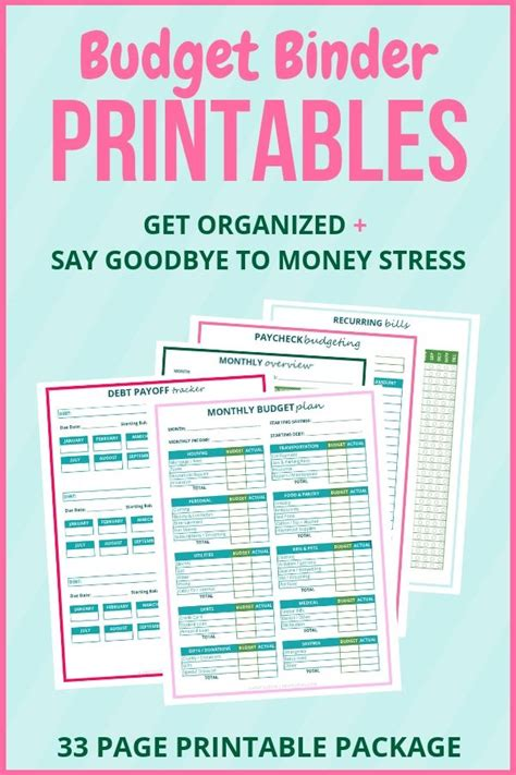 printable budget planner template   money