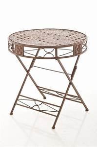 Gartentisch Metall Antik : tisch tinetto antik braun klappbar gartentisch beistelltisch metall loraville ebay ~ Watch28wear.com Haus und Dekorationen