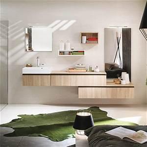 Meuble salle de bain espace aubade for Salle de bain design avec meuble salle de bain 60 cm castorama