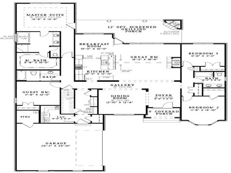 house floor plan ideas open floor plan house designs small open floor plans