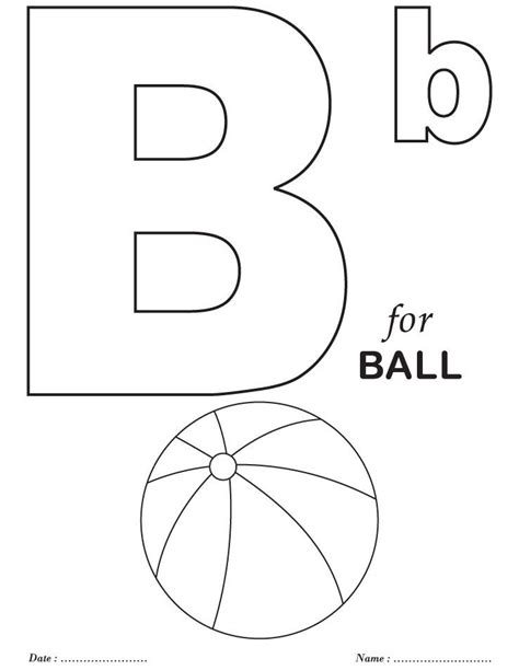 printables alphabet b coloring sheets download free