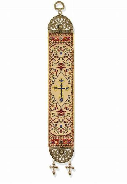 Cross Tapestry Ic Xc Banner Icon Textile