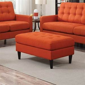 coaster kesson 505370 mid century ottoman with button With lapeer furniture and mattress store
