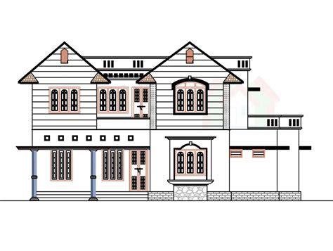 a house plan 2226 sq ft house design with kerala house plans