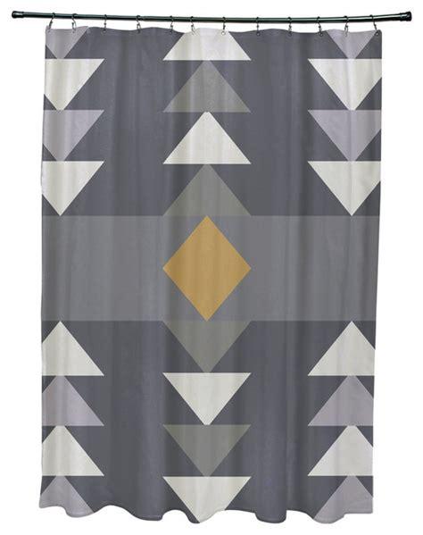 71x74 quot sagebrush geometric print shower curtain