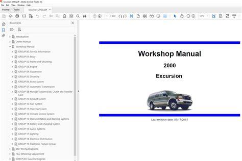car engine manuals 2004 ford excursion user handbook ford excursion 1999 2005 factory repair manual