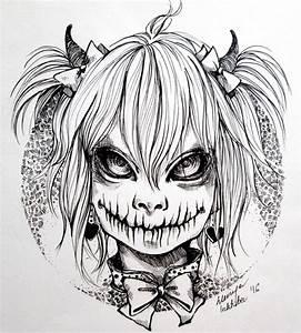 Inktober (Devil 02/31) by Doringota on DeviantArt