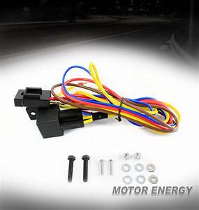 Front Fog Lights Lamps Wiring Harness Kit For 99