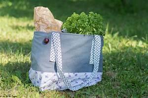 Au Fil Du Tissu : diy un sac cabas en tissu pour les courses au fil du thym ~ Melissatoandfro.com Idées de Décoration