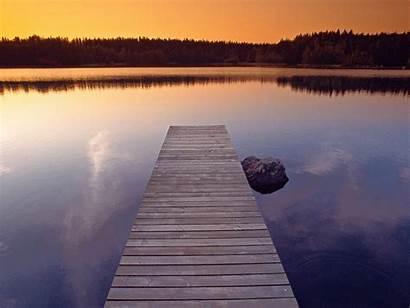 Dock Sunset Wallpapers Lake Pier