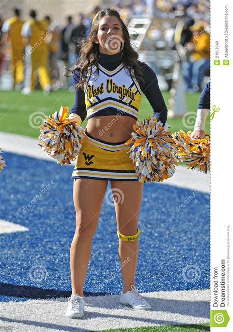 wvu cheerleader editorial stock image image  college