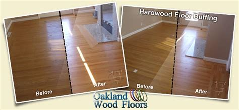 Buffing Hardwood Floors Before And After by Buff Recoat Oakland Wood Floors