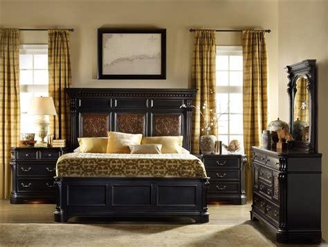 telluride  piece bedroom set  distressed black finish