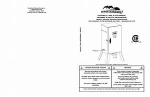 Masterbuilt 20070410 User Manual