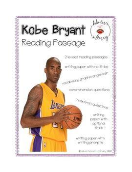 kobe bryant reading passage  adventures  literacy tpt