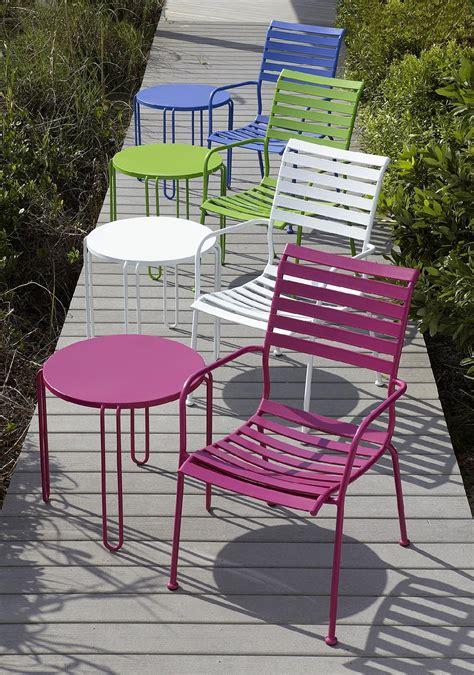 garden oasis metal stackable side table pink outdoor