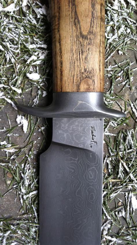 couteau cuisine damas couteau artisanal bowie damas de frederic maschio