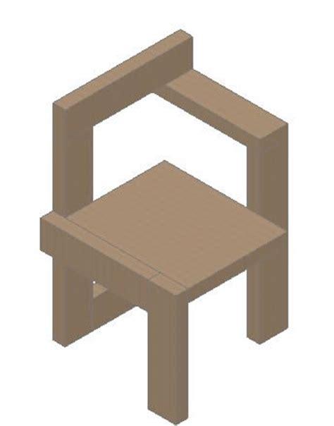 Sedia 3d Dwg Steltman Chair 3d In Autocad Cad 182 56 Kb