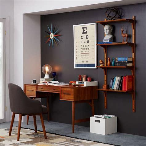 mid century office desk amazing mid century desk acorn west elm greenvirals style