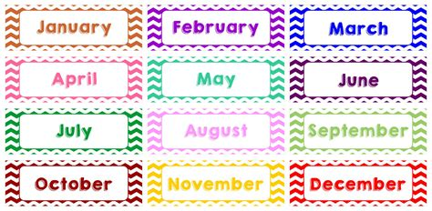 8 Best Images of Printable Calendar Month Labels - Free ...