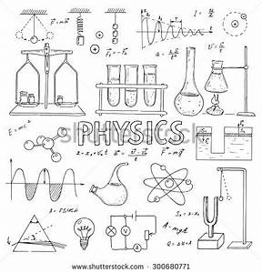 Set Physical Chemical Equipment Vector Hand Stock Vector ...