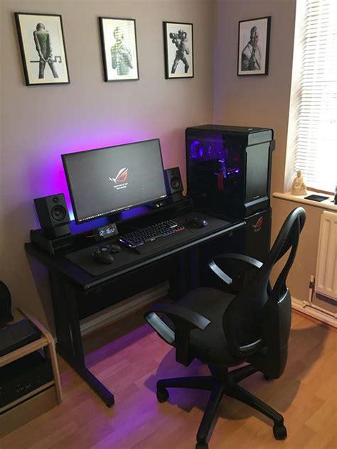 black rog gaming desk setups