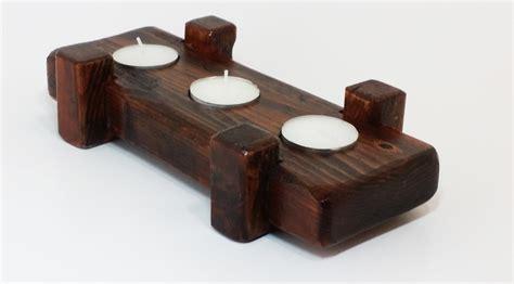 rustic tea light holder handys workshop