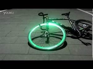 Green Reflective Fixie Fixed Gear Bike Wheel Rim Stickers